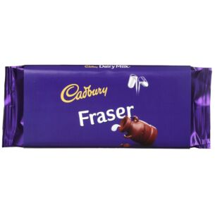 'Fraser' 110g Dairy Milk Chocolate Bar