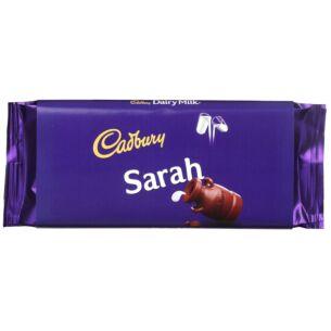 'Sarah' 110g Dairy Milk Chocolate Bar