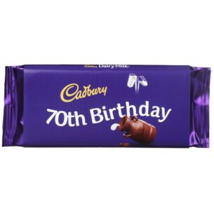 '70th Birthday' 110g Dairy Milk Chocolate Bar