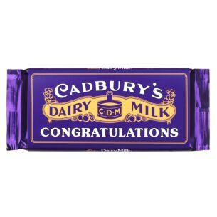 'Congratulations' 110g Dairy Milk Vintage Chocolate Bar