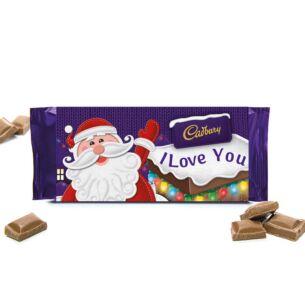 'I Love You' 110g Christmas Milk Chocolate Bar