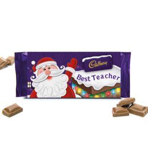 'Best Teacher' 110g Christmas Milk Chocolate Bar