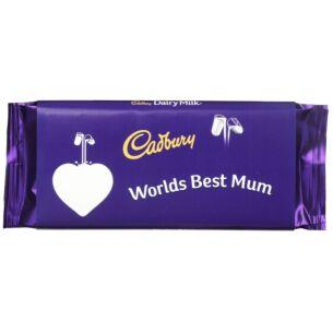 'World's Best Mum' 110g Dairy Milk Chocolate Bar