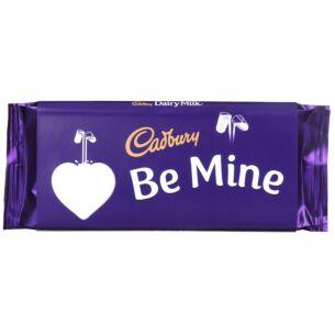 'Be Mine' 110g Dairy Milk Chocolate Bar