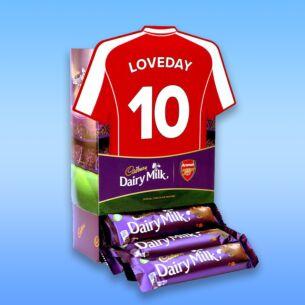 Personalised Favourites Arsenal Shirt Chocolate Bar Hamper