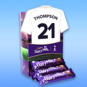 Personalised Favourites Tottenham Hotspur Shirt Chocolate Bar Hamper