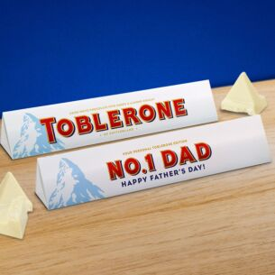 Personalised Toblerone Father's Day 360g Bar – White Chocolate