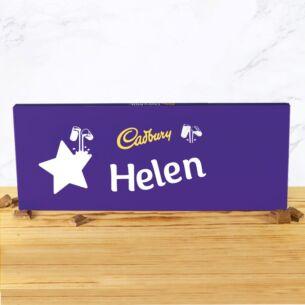 Personalised 850g Star Dairy Milk Chocolate Bar