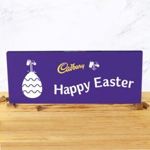 Personalised 850g Easter Dairy Milk Chocolate Bar