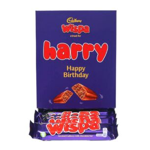 Personalised Favourites Wispa Chocolate Bar Hamper