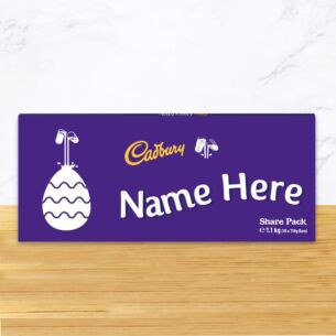 Personalised 1.1kg Easter Dairy Milk Chocolate Share Pack