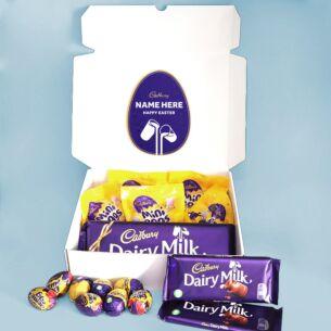 Personalised Dairy Milk Mini Egg & Cream Egg Easter Hamper