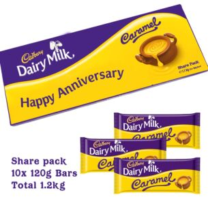 Personalised 1.2kg Caramel Chocolate Share Pack