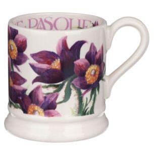 Flowers Pasque Flower Half Pint Mug