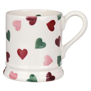 Pink & Green Hearts Half Pint Mug