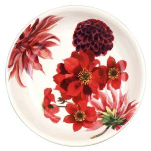 Flowers Red & Pink Dahlias Medium Pasta Bowl