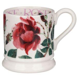 Flowers Red Rose Half Pint Mug