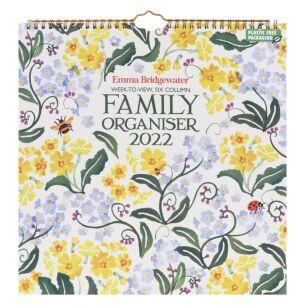 Primrose & Forget-Me-Not Family Organiser 2022 Wall Calendar
