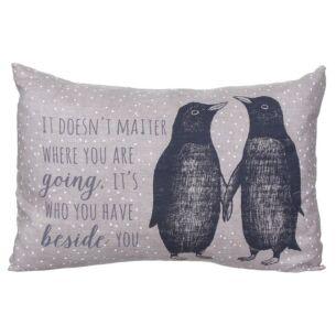 East of India Penguins Long Cushion