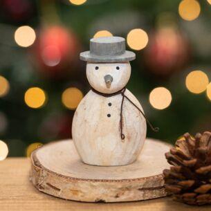 Christmas Wooden Round Snowman