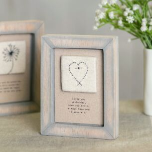 Embroidered 'Loved You Yesterday' Square Picture