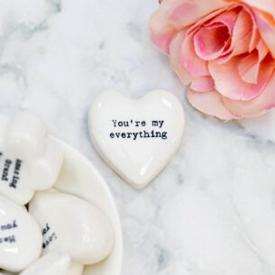 'You're My Everything' White Heart Token