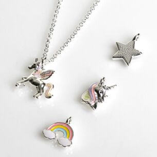 Girls Silver Plated Make Your Own Mystical Necklace Set