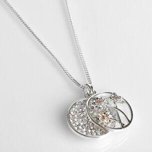 Two Tone Botanical Glam Gerbera Necklace