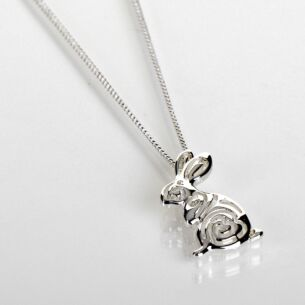 Silver Plated Country Swirl Hare Necklace