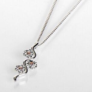 Two Tone Botanical Ripple Gerbera Necklace