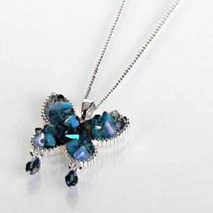 Silver Plated Boho Chic Butterfly Necklace