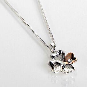 Two Tone Heart Aplenty Necklace