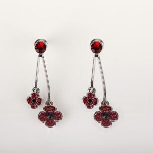 Double Poppy Earrings