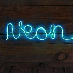 Make Your Own Neon Effect Sign – Blue
