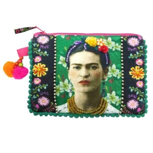 Disaster Designs Frida Kahlo Embroidered Zip Purse