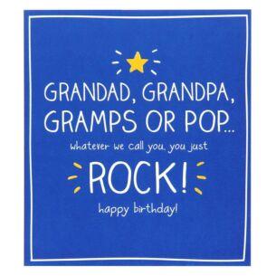 Happy Jackson Grandad Rock Birthday Card