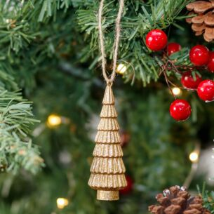 Gold Christmas Tree Decoration