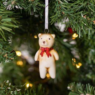 Vintage Teddy Christmas Tree Decoration