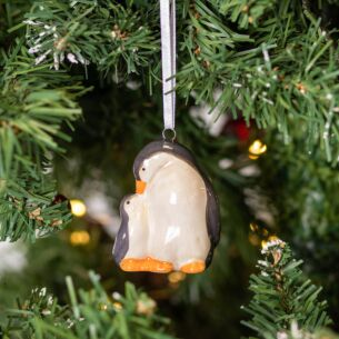 Penguin and Baby Christmas Tree Decoration