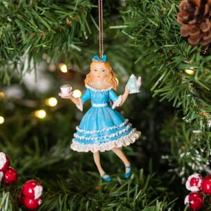 Resin Alice in Wonderland Tree Decoration