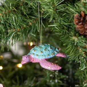 Pastel Resin Sea Turtle Tree Decoration