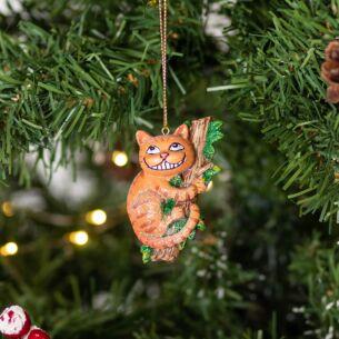 Resin Cheshire Cat Tree Decoration