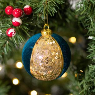 Assorted Fabric and Sequin Bauble