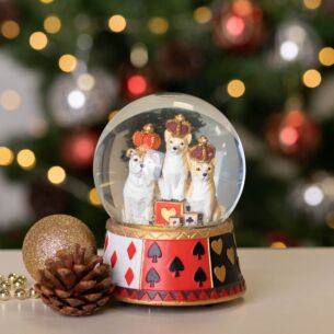 Regal Dogs Musical Snow Dome Decoration