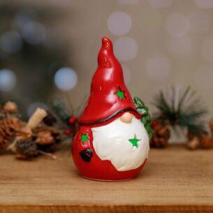 Small LED Nordic Santa Ornament