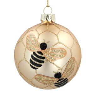 Gold Bumblebee Glass Bauble