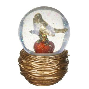 Medium Gold Dove Resin & Glass Snow Dome Decoration