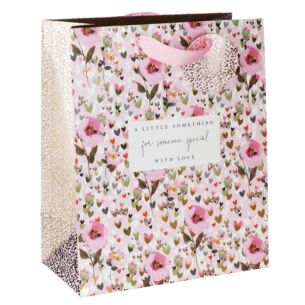 Stephanie Dyment Hearts & Flowers Large Gift Bag