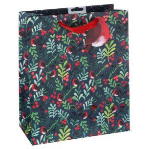 Mistletoe & Robin Large Gift Bag