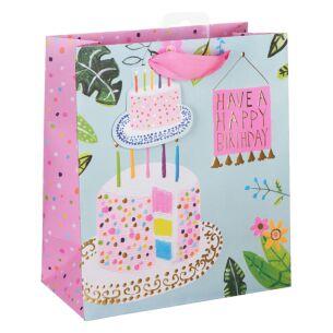 Paper Salad 'Cake' Happy Birthday Medium Gift Bag